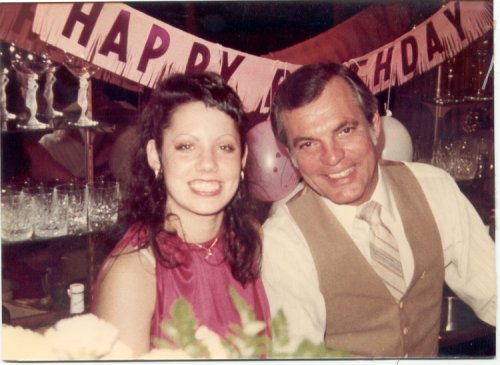 Amy and Dad at 18th Birthday