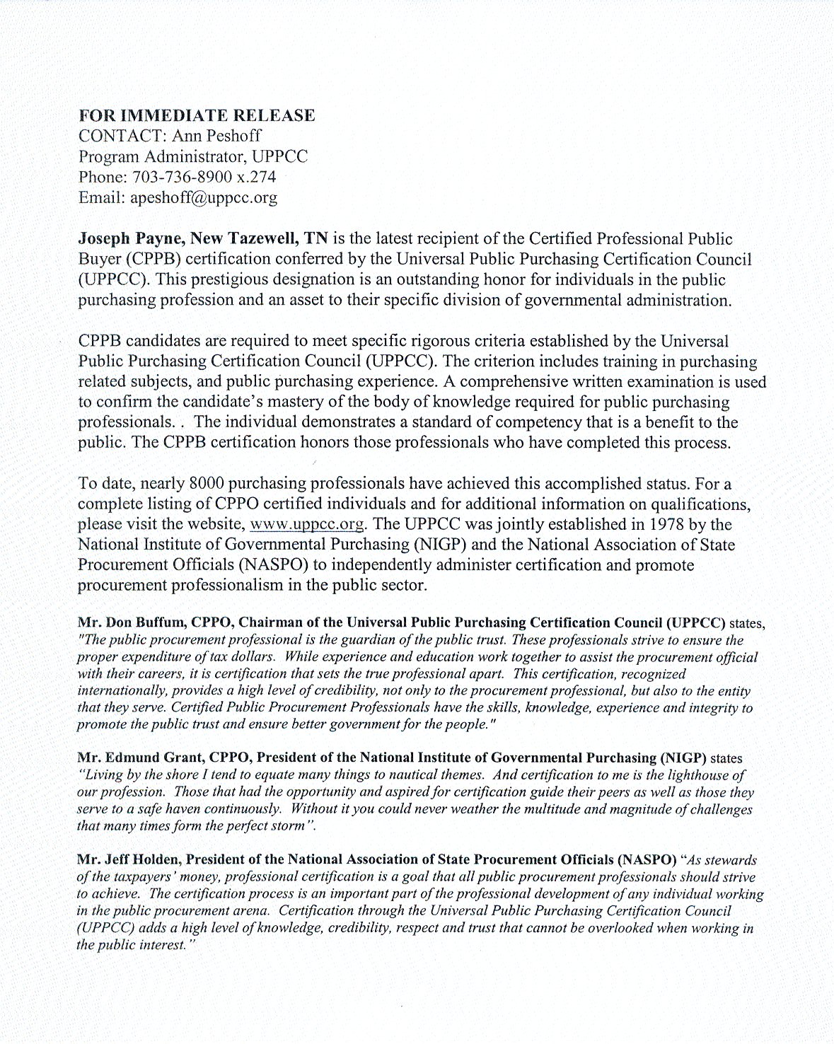 Universal public purchasing certification council home xflitez Image collections